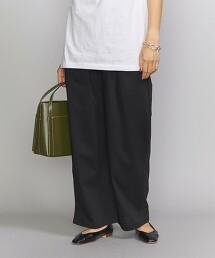 BY 腰間縮摺 棉質 寬褲 日本製