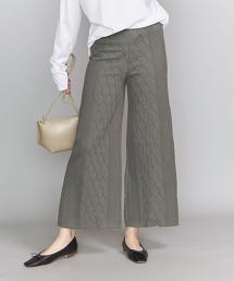 BY 棉質 繩紋 寬褲