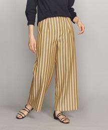 BY 多色條紋2摺寬褲