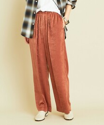 BY∴ 色丁布 縮摺 輕便寬褲 日本製 -可水洗-