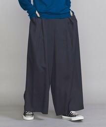 BY 斜紋織  寬褲 -可手洗- 日本製