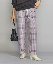 BY 格紋輕便褲 打摺寬褲 -手洗- 日本製
