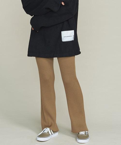 BY∴ 無縫針織羅紋褲