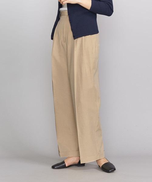 BY 羅緞3摺寬褲