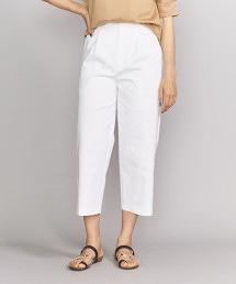 BY 打摺寬版錐形8分褲/白色