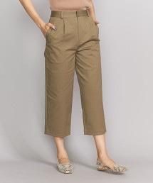 BY 打摺寬版8分錐形褲/Olive/Navy