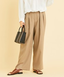 BY∴ 化纖 2摺寬褲  -日本製-