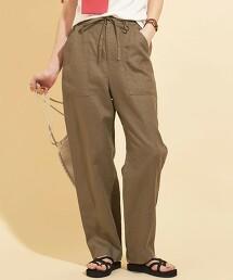 【WEB限定】by ※∴法國亞麻 輕便褲 -可手洗- 日本製