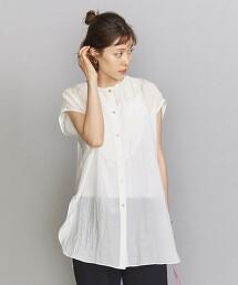 BY 縲縈尼龍 法式袖襯衫