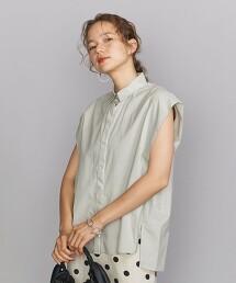BY 寬肩 法式袖襯衫 -可水洗-