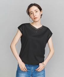 BY 刺繡 V領 法國袖 T恤