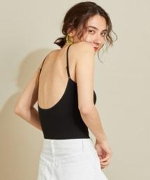 BY 羅紋抽針弧形背面內搭背心吊帶衫
