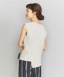 BY 純棉 羅紋 不對襯設計 層次風 無袖T恤 日本製