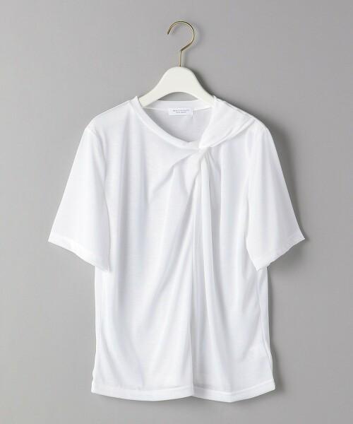 BY 扭結領口 短袖 T恤 日本製