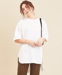 BY∴ 側邊開衩棉質寬版T恤