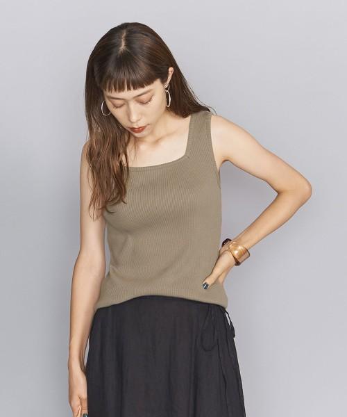 BY 羅紋 方型領 無袖T恤