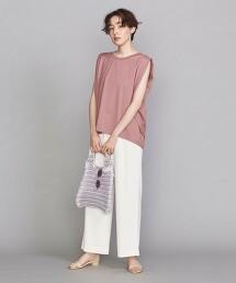 BY 天竺棉 摺線 無袖T恤 日本製
