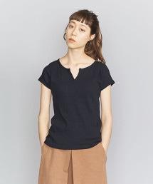 BY 棉質羅紋抽針開襟T恤