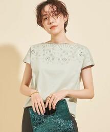 【WEB限定】by ※∴刺繡領法國袖上衣 -可手洗-