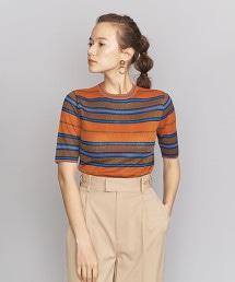 BY 複合橫條紋羅紋針織套頭上衣
