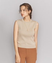 BY 羅紋圓領無袖針織罩衫