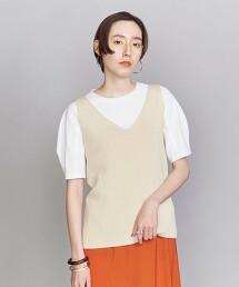 BY 羅紋V領無袖針織衫