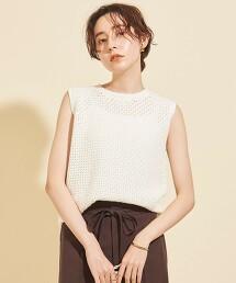 BY∴ 麻棉鉤針無袖針織