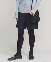 BY 斜紋織細褶短褲
