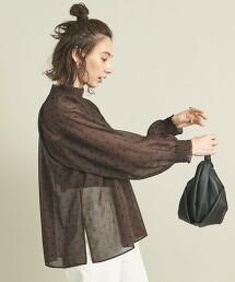 BY 圓點 蓬鬆袖 高領罩衫 -可手洗- ∴