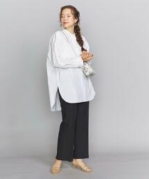 BY 高密度平織寬版開領襯衫 日本製