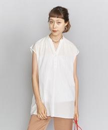BY 棉質絲綢 開襟領罩衫