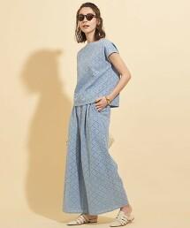【WEB限定】by ※∴純棉 簍空蕾絲 法國袖 罩衫 -可手洗-