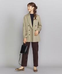BY 緞面雙排釦西裝外套