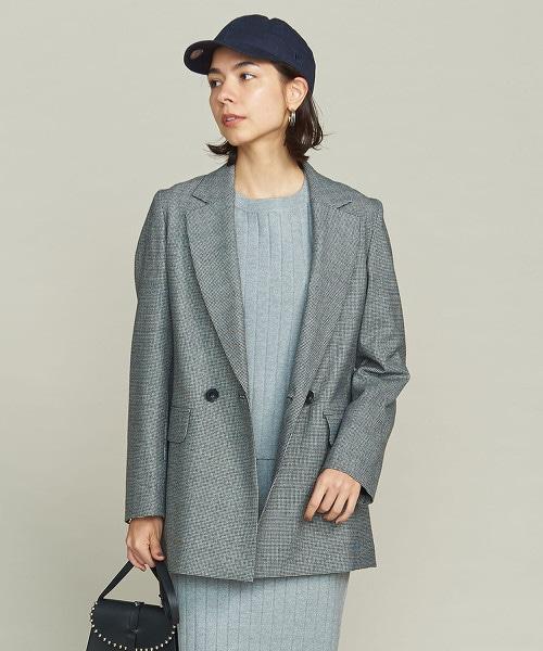 BY 千鳥格花紋&格紋 鬆身西裝外套