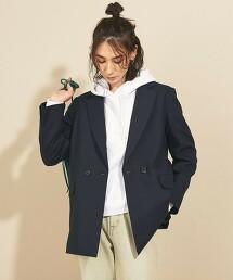 BY∴ 混麻雙排釦外套