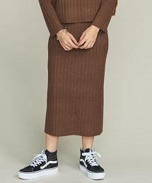 BY 寬幅羅紋針織窄裙