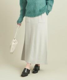 BY 棉/喀什米爾 貼袋口袋針織裙 -可手洗- ∴