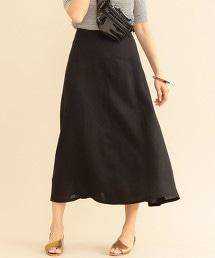 BY∴ 彩色亞麻荷葉裙 -可手洗-