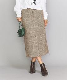 BY 粗花呢前扣窄裙