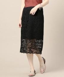 BY 蕾絲刺繡窄裙