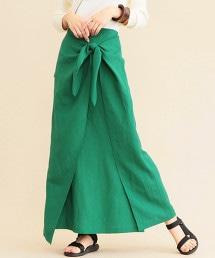 BY∴ 扭結長版裹裙
