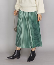 BY 素色緞面百褶長裙 OUTLET商品