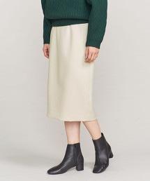 BY 仿羊毛綾織高腰窄裙
