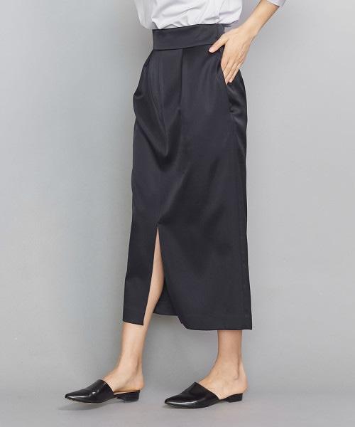 BY 打摺正面開衩窄裙