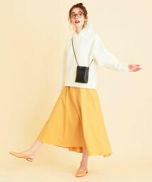 【有內裏】BY 高密度平織蓬鬆A字裙 -可手洗- 日本製