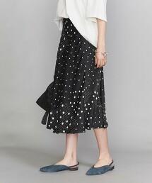 BY 圓點拼接 A字裙 日本製