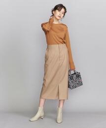 BY 綾織高腰窄裙 日本製