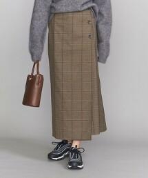 BY 格紋 正面鈕釦 一片裙 日本製