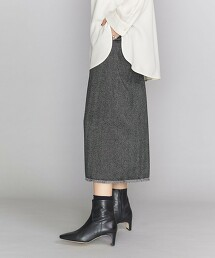 BY 人字紋 流蘇裙 日本製
