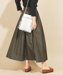 BY∴ 記憶塔夫綢 抽褶迷嬉裙 -可手洗- 日本製